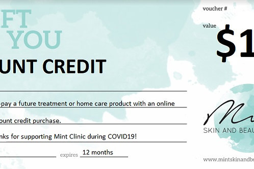 Clinic Credit $150