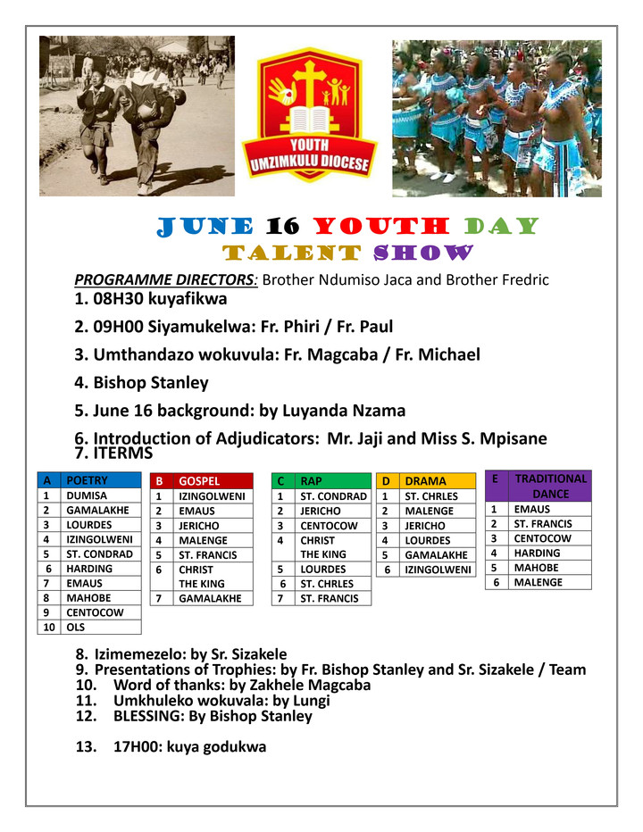 YOUTH DAY- June 16 Celebration in Clydesdale Hall - Umzimkulu - INSPIRED BY YOUTH OF 1976
