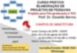 minicurso - projetos de pesquisa propost