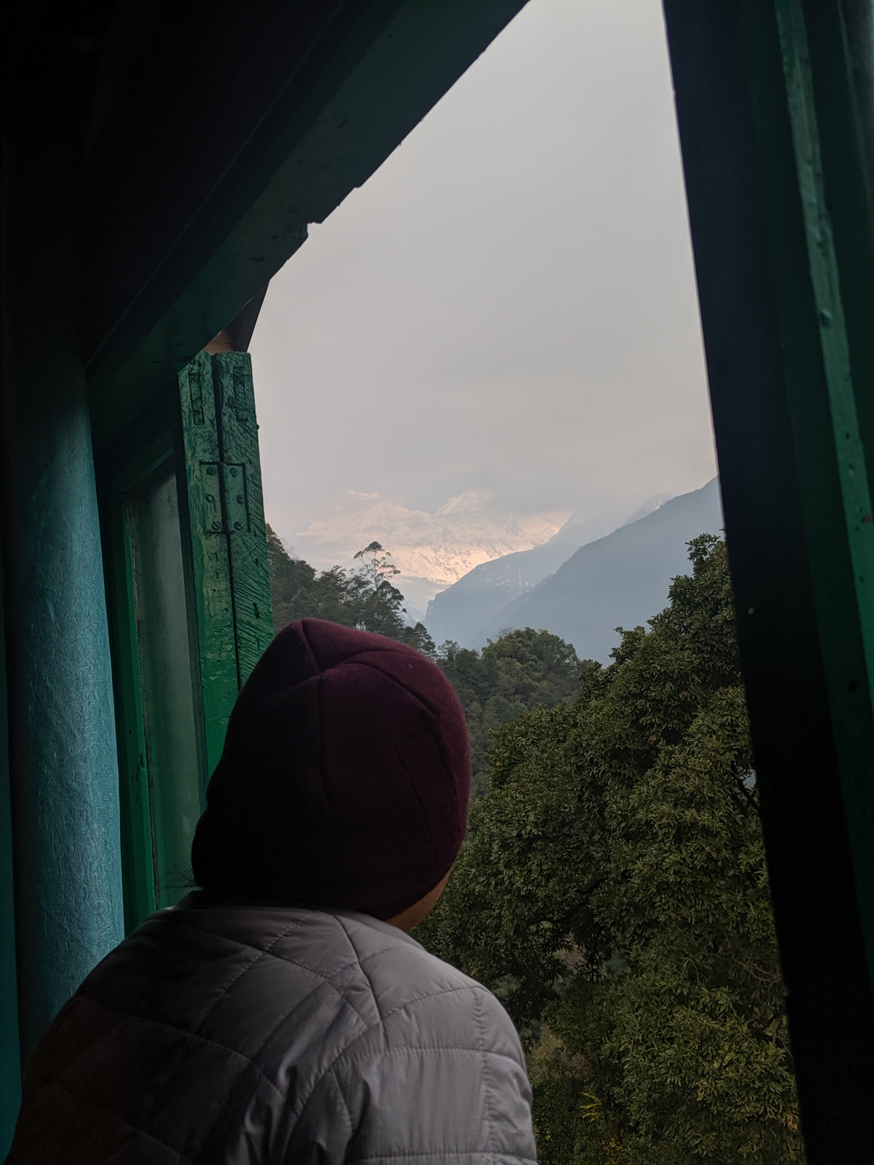 Kanchenjunga as seen from our room