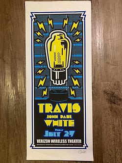 Poster Travis + John Paul White (serigrafia)