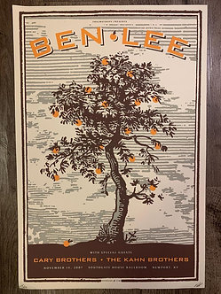 Poster Ben Lee (serigrafia)