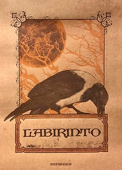 Labirinto - Poster Corvo (Silk-screen)