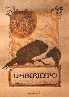 Poster Labirinto, Corvo (serigrafia)