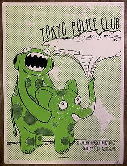 Poster Tokyo Police Club (serigrafia)