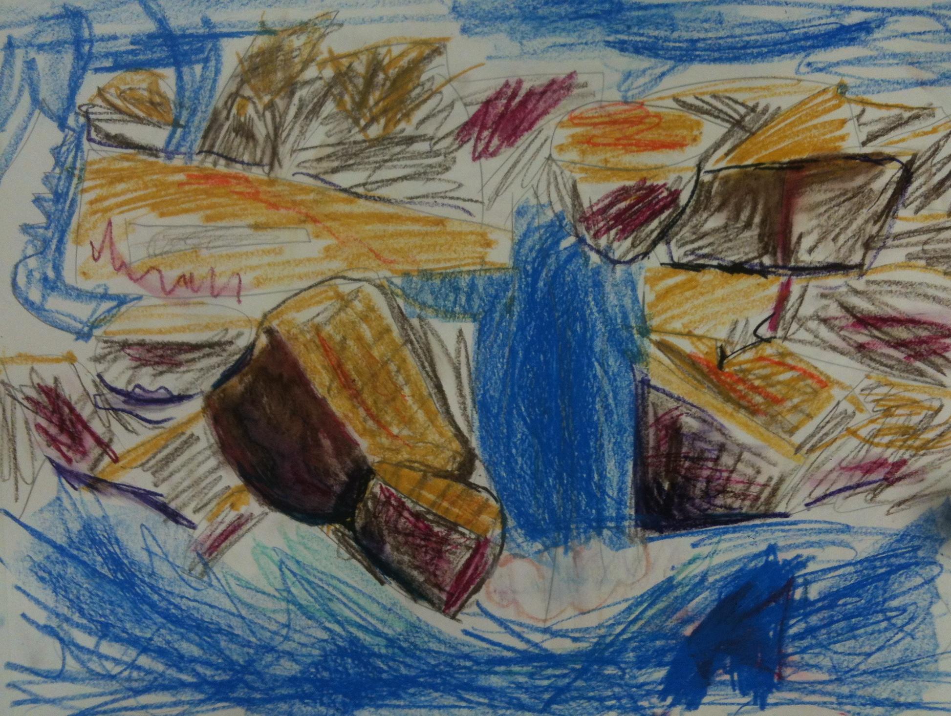 Landscape - Oil Pastel