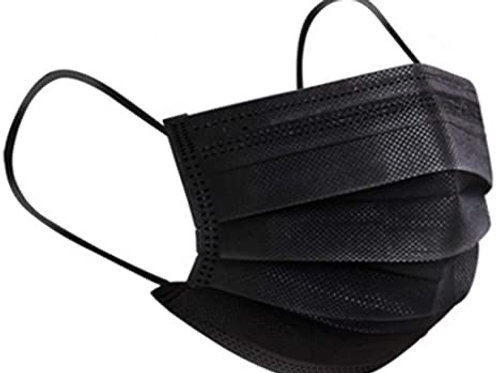 Black 4ply mask - 1 piece