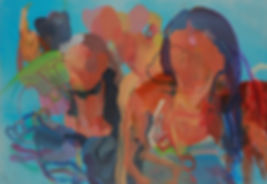 Los Teques. Acryl auf Leinwand. 125x180c