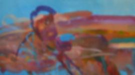 Caracas. Acryl auf Leinwand. 100x180cm.