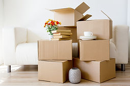 Cardboard boxes - moving to a new house.
