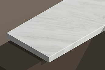 ruschita white marble chamfered steps and copings