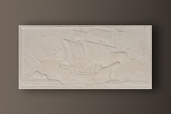 vratza embossed limestone sculptured picture