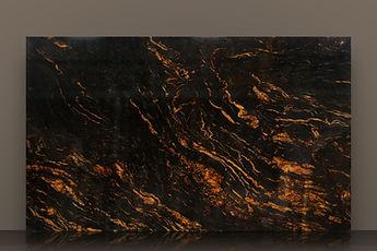 titanium gold bookmatched polished granite slab