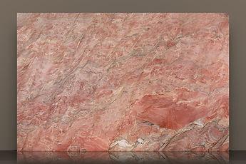 fusion red polished quartzite slab