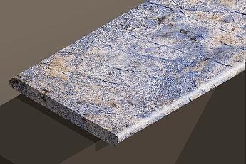 azul bahia polished granite bullnose steps and copings