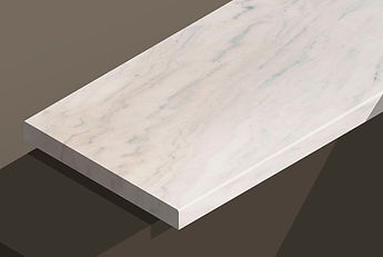 ruschita champagne marble chamfered steps and copings