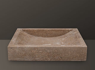 Noce Rectangular Travertine Basin