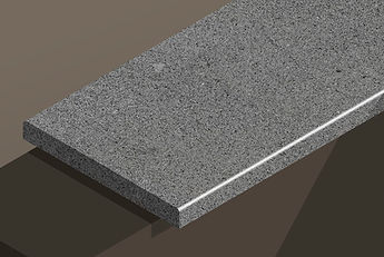 brazil black flamed granite pencil steps and copings