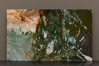 sodalite fantasy bookmatched polished quartzite slab