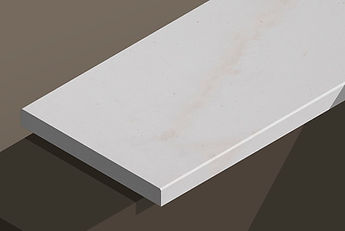 paloma white honed limestone chamfered steps and copings