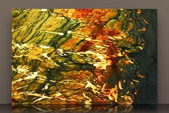 gaultier bookmatched backlit polished quartzite slab