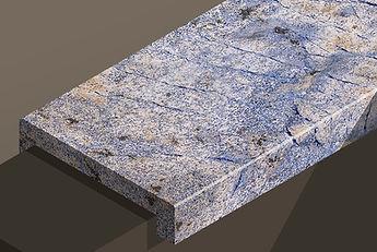 azul bahia polished granite downstand steps and copings