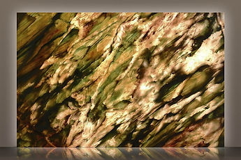alexandrita bookmatched backlit polished quartzite slab