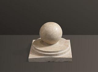 Beige Ball Honed Travertine Pier Cap