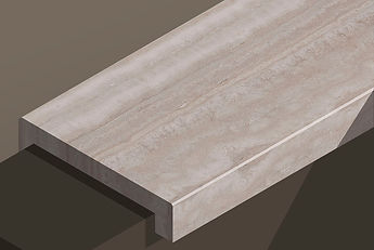 alabastrino travertine vein-cut downstand steps and copings