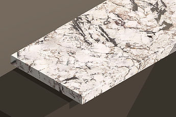 bianco artico polished granite chamfered steps and copings