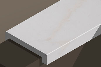 paloma white honed limestone downstand steps and copings