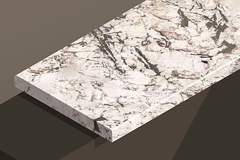bianco artico polished granite pencil steps and copings