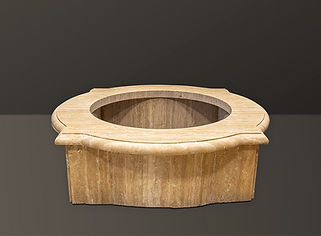 Golden Sienna Travertine Garden Fountain Basin