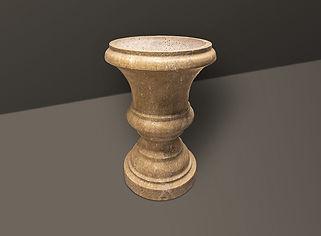 Golden Sienna Tumbled Travertine Flowerpot