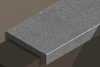 brazil black flamed granite downstand steps and copings