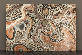 lava bookmatched polished onyx slab