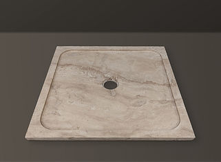 classic filled travertine rectangular showertub