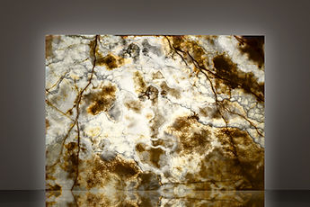 miele light backlit polished onyx slab