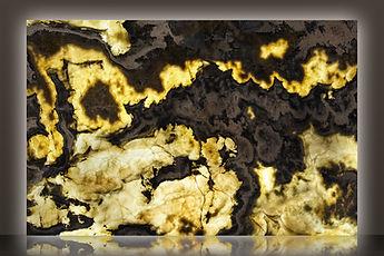 Canyon Brown Backlit Polished Onyx Slab