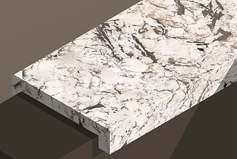 bianco artico polished granite downstand steps and copings