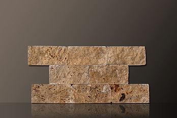 NOCE SPLIT-FACE TRAVERTINE TILES SET