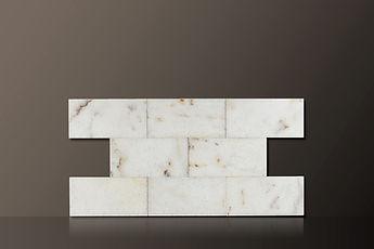 mugla white polished marble tiles set
