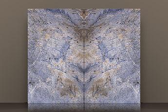 azul bahia bookmatched polished granite slab