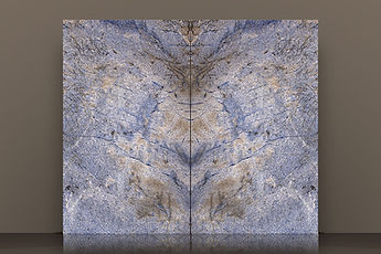 Azul Bahia Polished Granite Bookmatched Slab