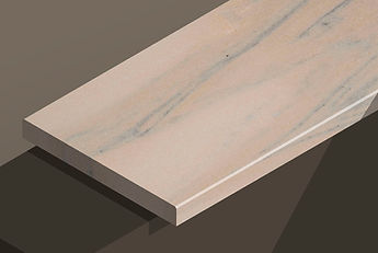 ruschita rosa marble chamfered steps and copings