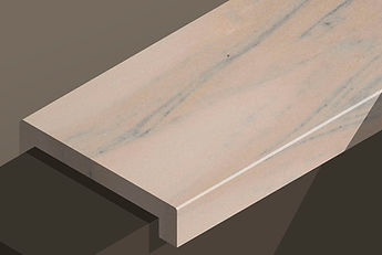 ruschita rosa marble downstand steps and copings