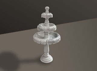 volakas polished marble fountain