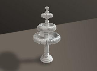 Volakas Polished Marble Fountain