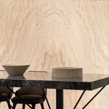 Ruschita Backlit Bookmatched Marble Wall