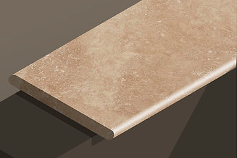 classic travertine cross-cut bullnose steps and copings